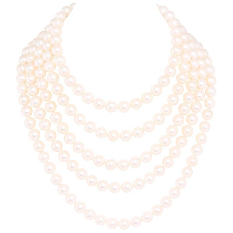 Ella Gafter Pearl Strand Necklace For Sale