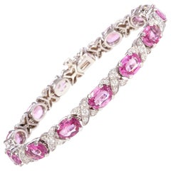 Ella Gafter Pink Sapphire Diamond Bracelet