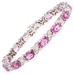 Ella Gafter Pink Sapphire Diamond Flexible Bracelet