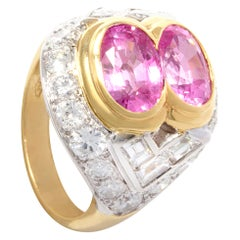 Ella Gafter Pink Sapphire and Diamond Ring