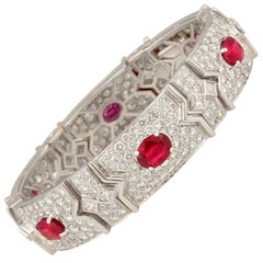 Ella Gafter Ruby and Diamond Bracelet