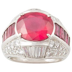 Ella Gafter Ruby and Diamond Cocktail Pinky Ring