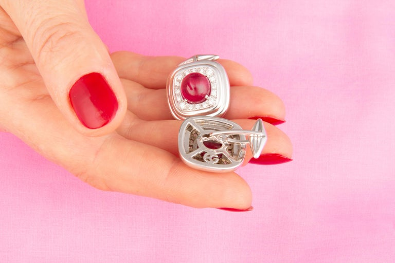 Contemporary Ella Gafter Ruby and Diamond Cufflinks For Sale