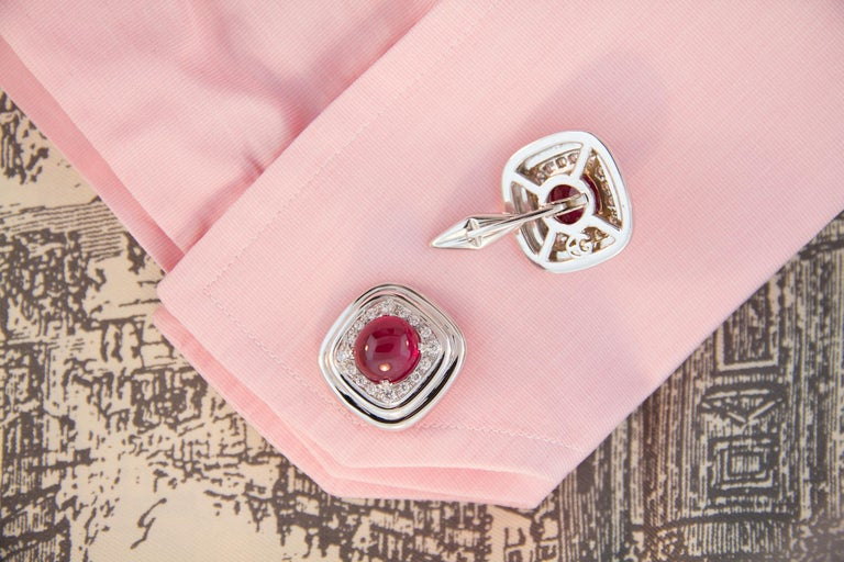 Ella Gafter Ruby and Diamond Cufflinks For Sale 2
