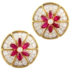 Ella Gafter Ruby and Diamond Earrings