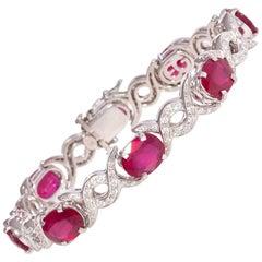 Ella Gafter Ruby and Diamond Link Bracelet