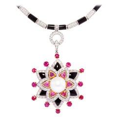 Ella Gafter Ruby Diamond Star Necklace