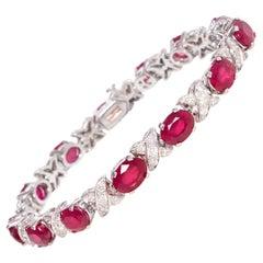 Ella Gafter Ruby and Diamond Tennis Bracelet