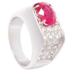 Ella Gafter Ruby Diamond Unisex Ring