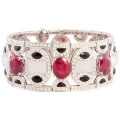 Ella Gafter Ruby Diamond Cuff Bracelet