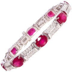 Ella Gafter Ruby Diamond Line Bracelet