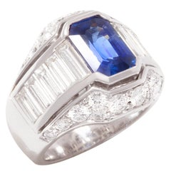 Ella Gafter Sapphire Diamond Cocktail Ring