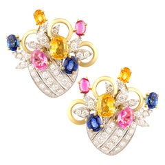 Ella Gafter Sapphire and Diamond Earrings