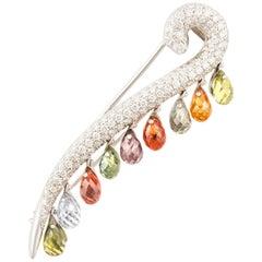 Ella Gafter Sapphire Briolette Diamond Stick Pin