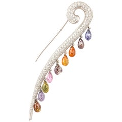 Ella Gafter Sapphire and Diamond Stick Pin