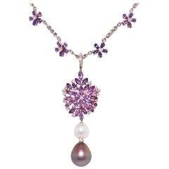 Ella Gafter Sapphire Lavender Necklace