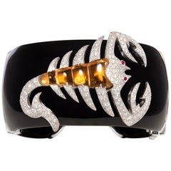 Ella Gafter Scorpio Zodiac Cuff Bracelet with Diamonds
