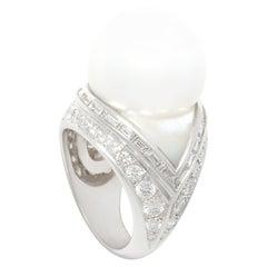 Ella Gafter 16mm South Sea Pearl Diamond Ring