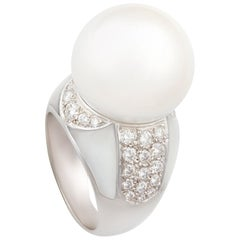 Ella Gafter South Sea Pearl and Diamond Ring