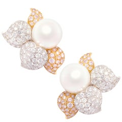 Ella Gafter South Sea Pearl Pink Diamond Earrings