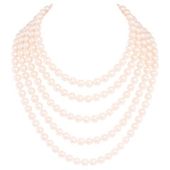 Ella Gafter Strand Japanese Akoya Pearl Necklace