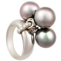 Ella Gafter Tahitian Pearl and Diamond Ring