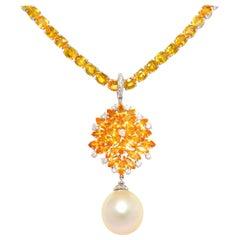 Ella Gafter Yellow Sapphire Diamond Necklace