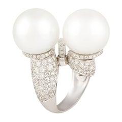 Ella Gafter Libra Pearl Diamond Zodiac Ring