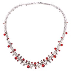 Ella Glass Cabochon And Crystal Necklace