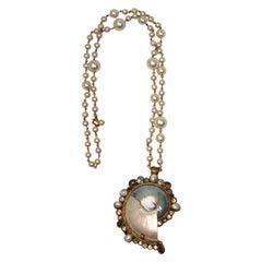 Ella K Nautilus Shell Long Necklace