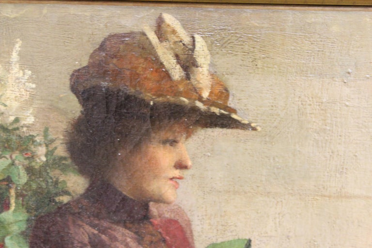 Ella M. Bedford 'Afternoon Tea' British Victorian Oil Painting For Sale 3