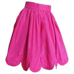 Ella Singh New Silk Skirt with Scallop Hem