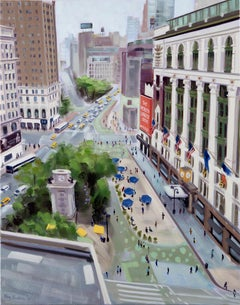 Above Herald Square, Painting, Oil on Canvas