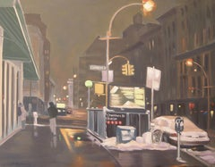 Chambers St Station, Painting, Oil on Canvas