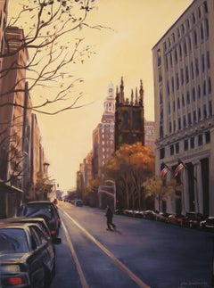 Dusk, 5th Ave & 12th St, Painting, Oil on Canvas