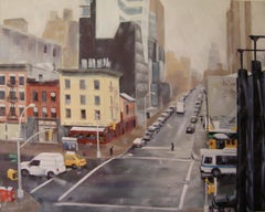First Snow, 10th Ave and 18th St, Painting, Oil on Canvas