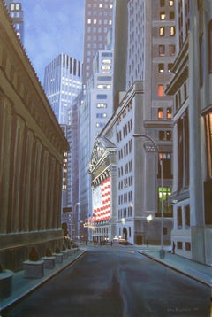 NYSE, Nassau St View, Painting, Oil on Canvas