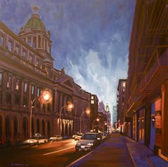 Old Police Headquarters, Centre St, Painting, Oil on Canvas