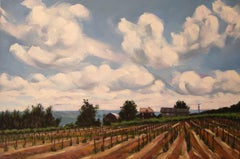Rolling Clouds, Konstantin Frank Vineyards, Painting, Oil on Canvas