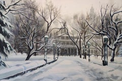 Snowed In, City Hall, Painting, Oil on Canvas