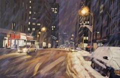 Snowstorm, Church St, Painting, Oil on Canvas