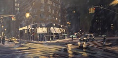 Stormy Night, Tribeca, Painting, Oil on Canvas