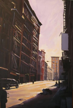 Sunlight, Lispenard St, Painting, Oil on Canvas