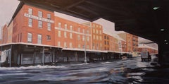 Winter, Fulton Fish Market, Painting, Oil on Canvas