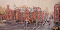 Wintertime, General Theological Seminary, Painting, Oil on Canvas