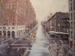 Wintry Crossroad, 10th Ave & 23rd St, Painting, Oil on Canvas