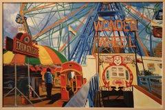 Wonder Wheel, Painting, Oil on Canvas