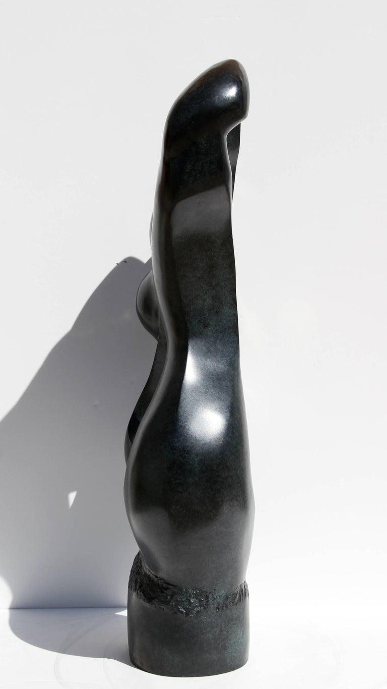Abstract Female Form, Large Bronze Sculpture For Sale 2
