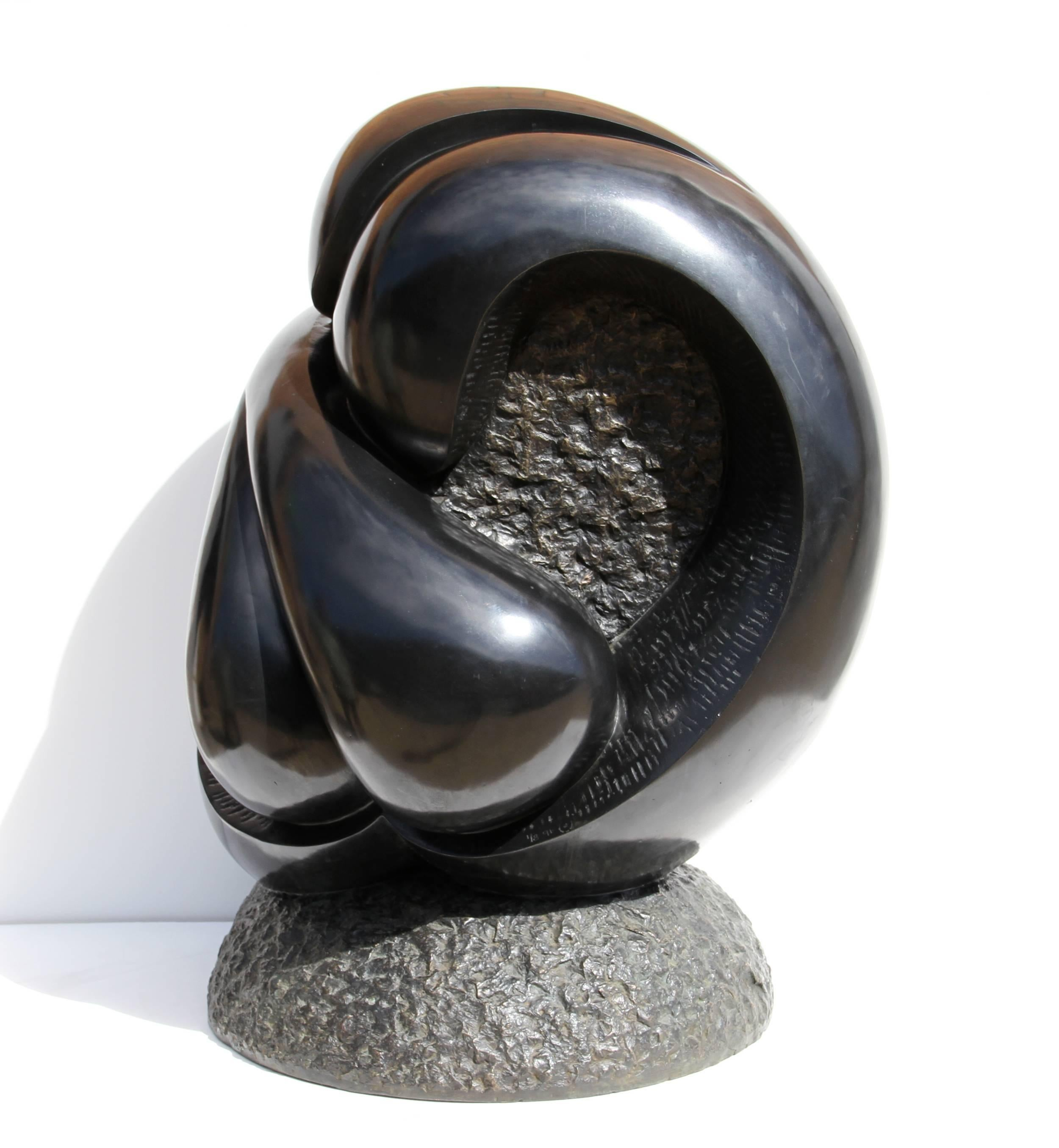 Large Abstract Bronze Sculpture by Ellen Brenner-Sorensen