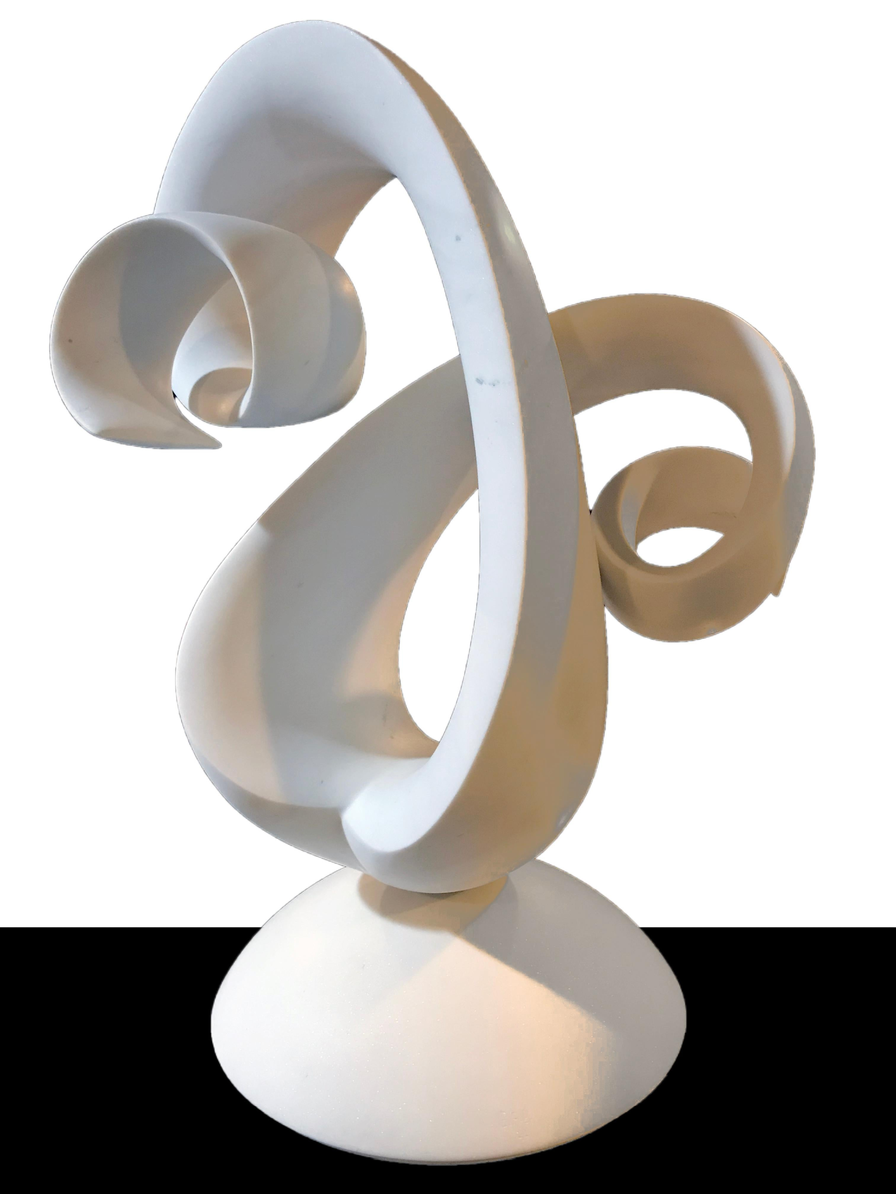 White Abstract Marble Sculpture